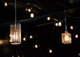 lampenwinkel in de nacht