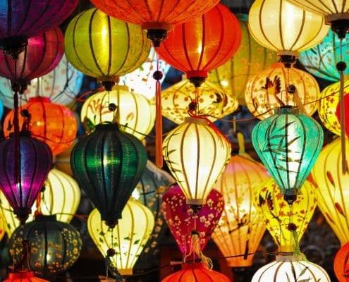 Kleurrijke Lampen