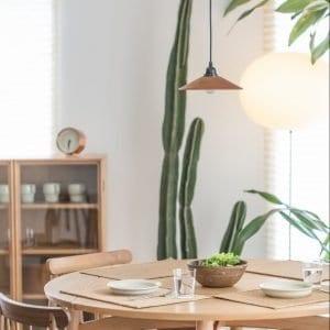 houten lamp woonkamer